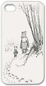 Apple iPhone 5 5G Winnie The Pooh Piglet Friends Design SLIM WHITE Sides Case Cover Skin Mobile Phone Accessory Faceplate Retro Vintage Comes in Case Cartel Packaging