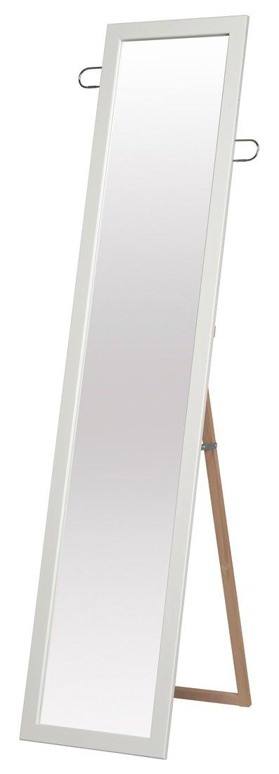 永井興産 フック付スタンドミラー ホワイト 日本製 高さ約160cm 小物を掛けられるフックは可動式SEN-021 B00FPDVIA8 ホワイト ホワイト