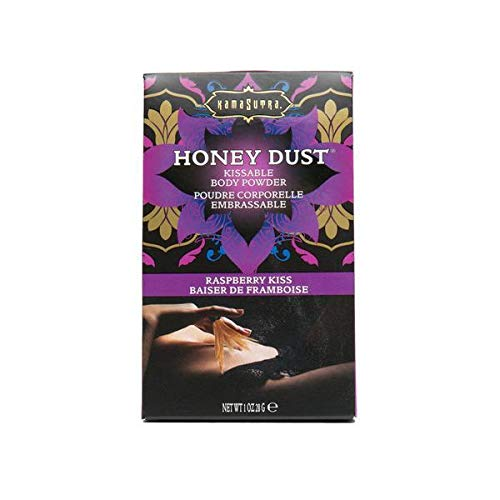 Kama Sutra Honey Dust Kissable Body Powder Raspberry Kiss 1oz Tickle Feather Gift