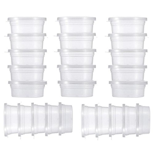 Slime Storage Containers,25 Pack Clear Plastic Storage Box C