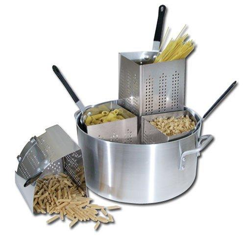 Winware 20 Qt Aluminum Pasta Cooker, Commercial Grade -