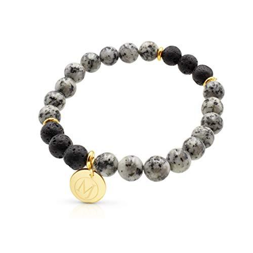 al Oil Bracelet, Anxiety Bracelet, Aromatherapy Bracelet, Lava Stone Bracelet, Essential Oil Diffuser Bracelet for Anxiety & Bracelet for Men & Women and Mens Bracelet ()