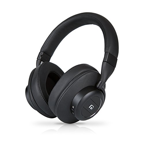 MobiFren Hi Resolution Stereo Sound Apt-X HD Acc Wireless Bluetooth Overhead Headphones with bulit-in External Speaker Mode, Smartphone Mobile App, Sport, Running, Sweat-Proof ()