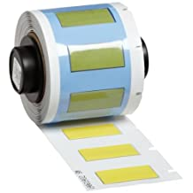 """Brady PSPT-250-1-YL TLS 2200 and TLS PC Link 1.015"""" Width x 0.439"""" Height, B-342 Heat-Shrink Polyolefin, Matte Finish Yellow PermaSleeve Wire Marker Sleeves (100 per Roll)"""