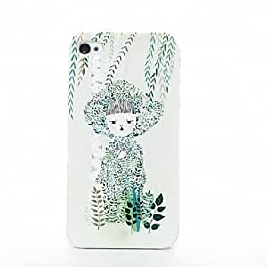 Mini - DAODAN Designed 3D Carving Case Little Girl&Willow Branch Pattern Case for iPhone5S , Color: Multicolor