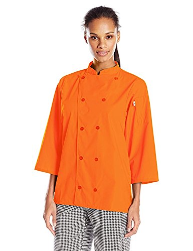 Uncommon Threads Unisex  Epic 3/4 Sleeve Chef Shirt, Carrot, X-Small by Uncommon Threads