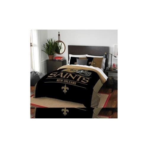 NFL New Orleans Saints Draft Full/Queen Comforter and 2 Sham - New Shops In Orleans