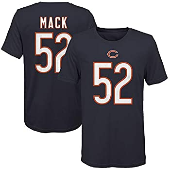 Youth X-Large 18//20 OuterStuff Khalil Mack Chicago Bears #52 Youth Pride Player Name /& Number T-Shirt Navy