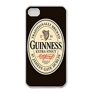 Protection Cover iPhone 4,4S White Phone Case Eouly GUINNESS Personalized Durable Cases
