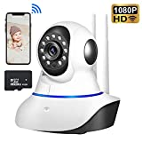 SOPHENA Baby Monitor 1080P Wireless Smart Home Security Camera System with 2-Way Audio and Video Night Vision Pet Camera -Available with Free MicroSD Slot -Great