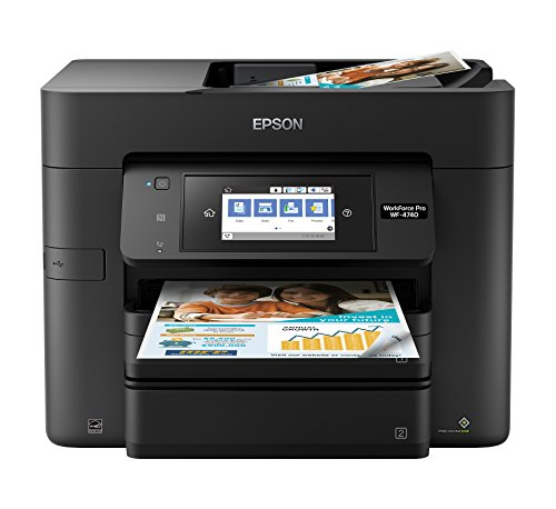 Epson Workforce Pro WF-4740 Wireless All-in-One Color Inkjet Printer, Copier, Scanner with Wi-Fi Direct, Amazon Dash Replenishment Enabled (Inkjet Duty Heavy)