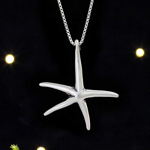 Sterling Silver Starfish Sea Star - (Pendant Only or Necklace) ()