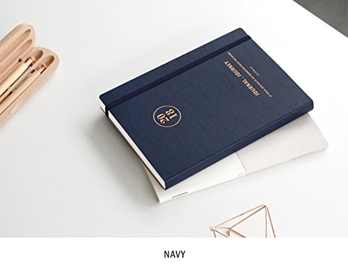 """Free Stamp Sticker Planner Scheduler Monthly Weekly Daily Personal Organizer Business Appointment Book leather Like, 192p, 5.8""""X8.3""""X0.7"""" (Navy) ()"""