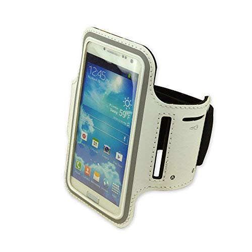 White Neoprene material Workout Outdoor Sport Running cover GYM Armband Case pouch For Samsung Galaxy S4 i9500/Samsung Galaxy s2 i 9100 / Samsung Galaxy Nexus Google I9250/HTC one /HTC My touch 4 G / HTC ONE V X S 8X 8S /Samsung Galaxy S3 III i9300 (S2 Sports Armband)