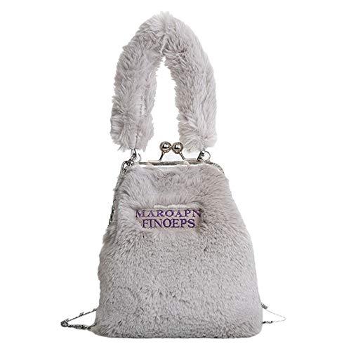 spalla Giochi Borsa singola spalla With Shape Grigio Singola Plush Bag chiaro Nero 100 Totes Borse a 0q1YPP