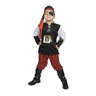 MONIKA FASHION WORLD Boys Pirate Costume Light UP Belt Child Kids Size M 5,6,7,8 Years Old, Ahoy Matey!: Toys & Games