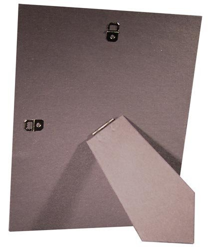 (10 Pack of 5x7 Cardboard Easel Backs with 2 Metal Hangers for Tile, Art, or Picture Frames)