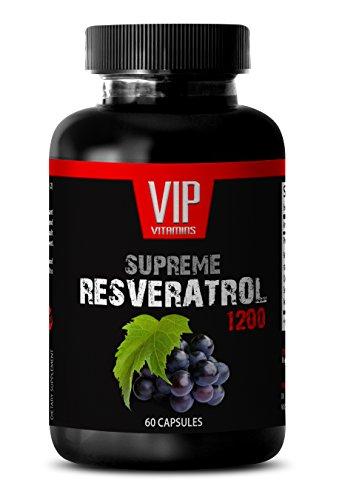 Resveratrol Supreme 1200mg - Premium Red Wine Extract 1200 - Maximum Strength Super Blend (1 Bottle 60 Capsules)