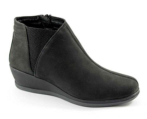 GRUNLAND Sochi PO0444 Mujer Zapatos Negros Consuela zeppetta Zócalo Nero
