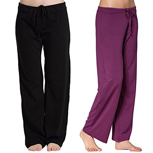 Over Longue Casual Femme Fitness Cordon SANFASHION Violet Unie Boot Style en Doux All Jogging Imprim Yoga Pants Pantalons Pantalon Moderne w4ZFBx