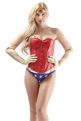 Alivila.Y Fashion Women's Sexy Halloween Cosplay Corset Costume With Shorts