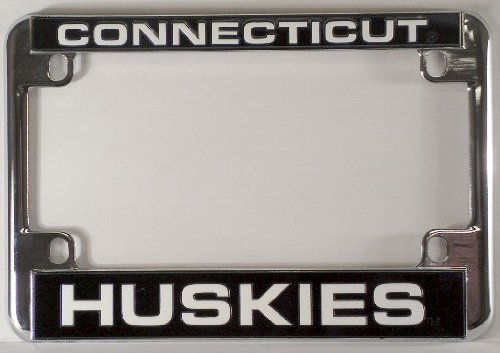 UConn Huskies Chrome Motorcycle RV License Plate Frame