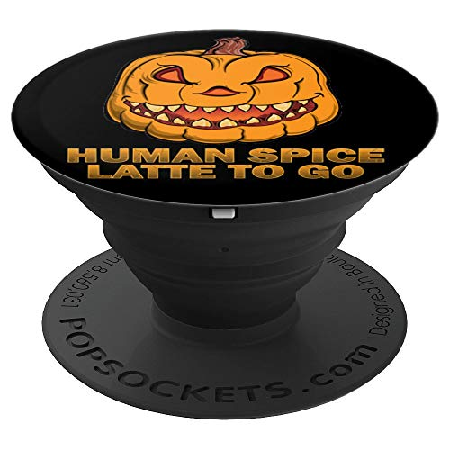 (Funny Halloween Pumpkin Spice Joke Horror Creepy - PopSockets Grip and Stand for Phones and Tablets)