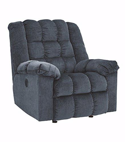 Ashley Furniture Signature Design - Ludden Rocker Recliner - 1 Touch Powered Reclining Sofa - Contemporary - Blue