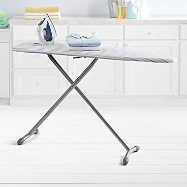 Real Simple Ironing Board with Bonus Folding Board made of Sturdy steel, 15  W x 54  L, Gray