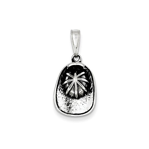 Pendants Career and Profession Charms .925 Sterling Silver Antiqued Fireman's Helmet Charm Pendant - Firefighter Helmet Charm