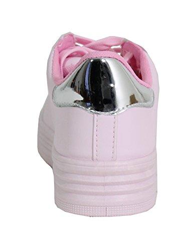 Style Femme Plateforme Tennis By Shoes Cuir WOFntA