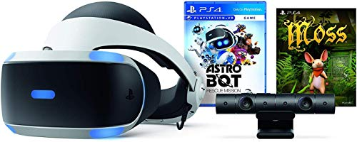 Playstation VR - Astro BOT Rescue Mission + Moss Super Bundle: Playstation VR Headset, Playstation Camera, Demo Disc 2.0, Astro BOT Rescue Mission + Moss Game 1