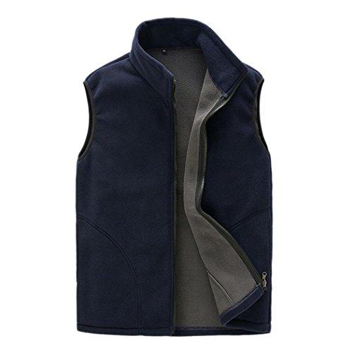 Zip Front Fleece Vest - 9