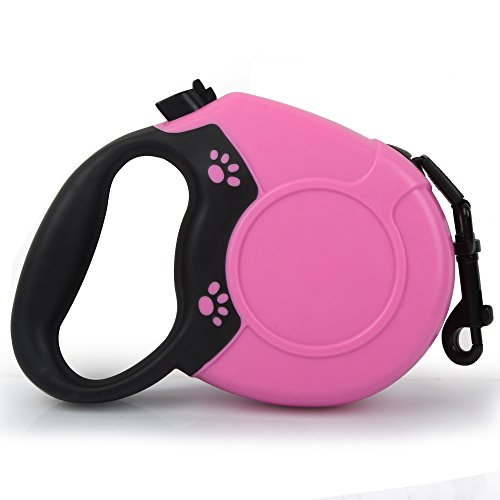 H&B Luxuries 16 ft Retractable Dog Leash with One Button Break And Lock for Medium Large Dogs ()