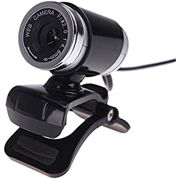 Docooler USB 2.0 12 Megapixel HD Camera Web Cam with MIC Clip-on 360 Degree Black