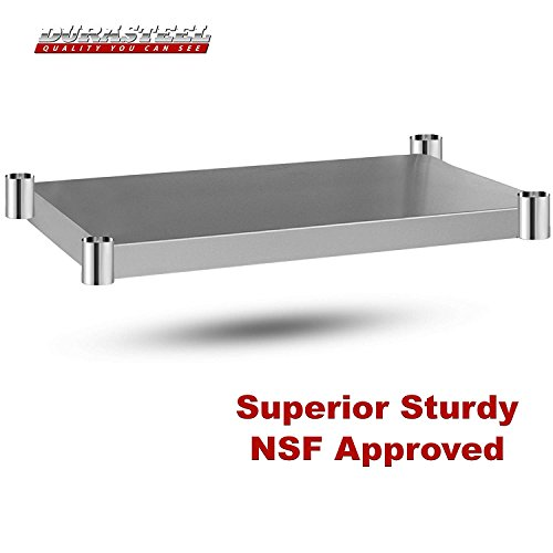 DuraSteel Stainless Steel Work Table 24'' x 12'' x 34'' Height w/ 4 Caster Wheels -  Food Prep Commercial Grade Worktable - NSF Certified - Good For Restaurant, Business, Warehouse, Home, Kitchen, Garage by DuraSteel (Image #5)