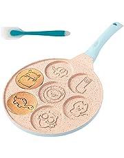 Animal Pancake Pan,Nonstick Pancake Griddle with 7 Unique Cute Animal Grill Pan Crepe Pancake Mold Mini Pancake Maker,Blue