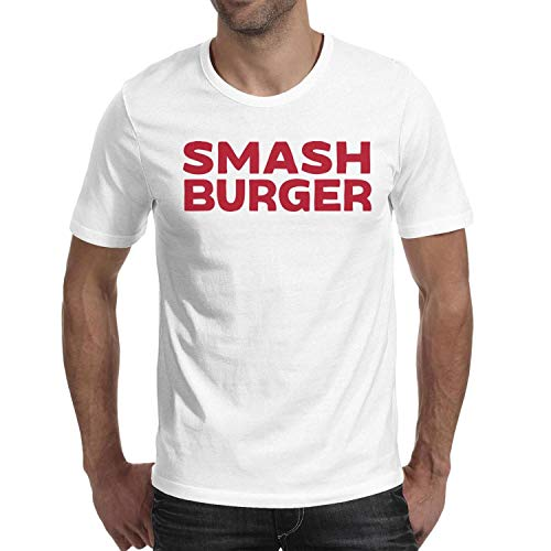 Men Smashburger New Logo Short Sleeve T Shirts Cotton Premium Environmentally Friendly T-Shirts White