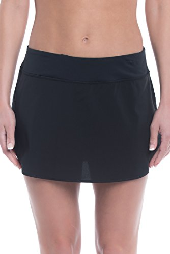 Penn Women's Active Skorts: Wide Band, Low Rise Tennis or Golf Skirt with Shorts,Black,X-Small -
