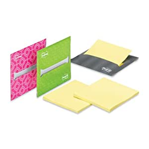 Post-it Pop-up Notes Laptop Dispenser for 3 x 3-Inch Notes, Bright Pink, Green, and Gray, 3-Dispensers/Pack