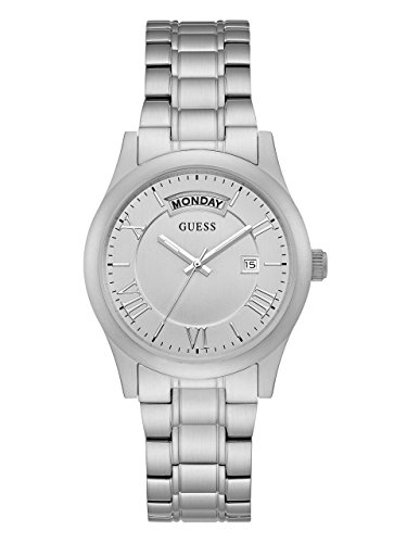 GUESS-Womens-Brushed-Silver-Tone-Classic-Watch