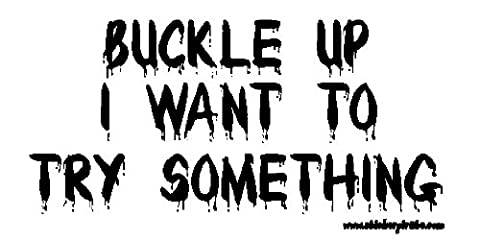 Buckle Up I Want To Try Something Offroad Bumper Sticker / Decal - 2 Decal Bumper Sticker