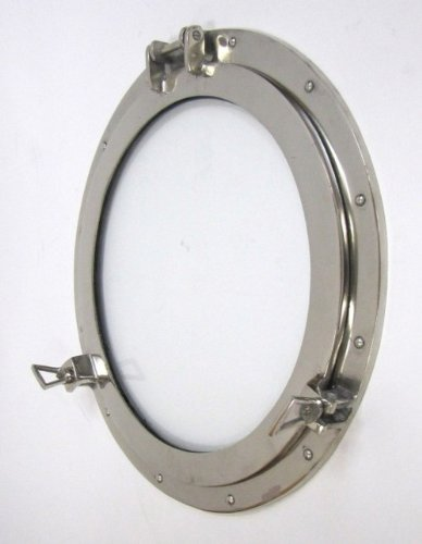 hole Window Chrome Finish - Nautical Decor (Chrome Porthole Mirror)