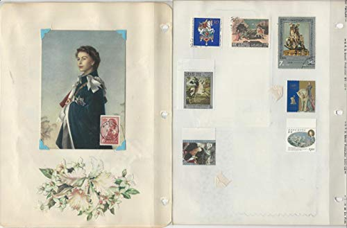British Royalty Stamp Album, Stamps, Covers, Postcards, Queen Elizabeth (B)