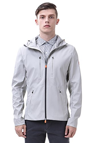 Men's Lightweight Rain Jacket Soft Shell Waterproof Outdoor Hoodie Trench Coat