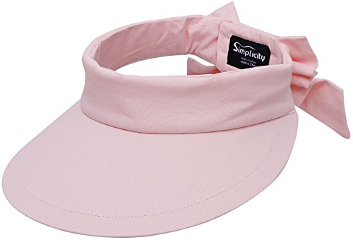 - Simplicity Women's SPF 50+ UV Protection Wide Brim Beach Sun Visor Hat,Pink