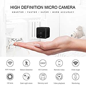 Wireless Hidden Mini Cameras 1080P HD Home Security Spy Camera with Super Night Vision Motion Detection Portable Tiny Nanny Pet Baby Monitor Indoor Outdoor Surveillance WiFi Cameras