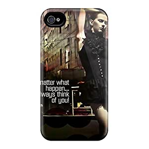 Excellent Iphone 4/4s Case Cover Back Skin Protector Thinking About You