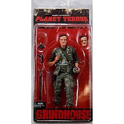 NECA Grindhouse Planet Terror Action Figure Quentin Tarantino as an Army Soldier: Toys & Games