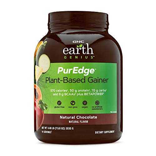GNC Earth Genius PurEdge Plant-Based Gainer - Natural Chocolate